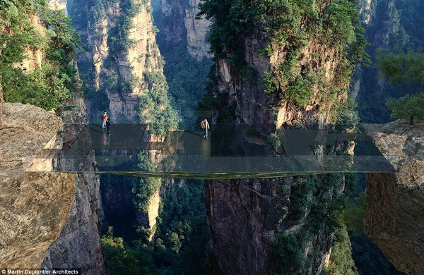 В горах Китая построят невидимый мост