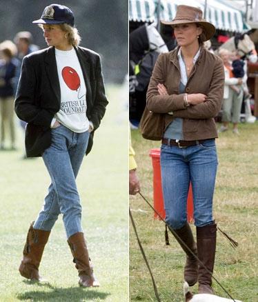 Икона стиля: принцесса Диана и Кейт Миддлтон