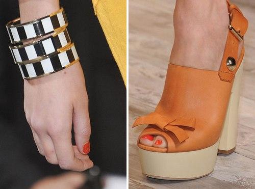 Как носить оранжевый?