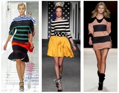 Полосатая мода весна-лето 2011