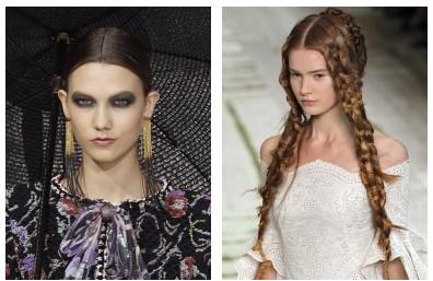 Прическа и макияж парижских дефиле весна-лето 2011