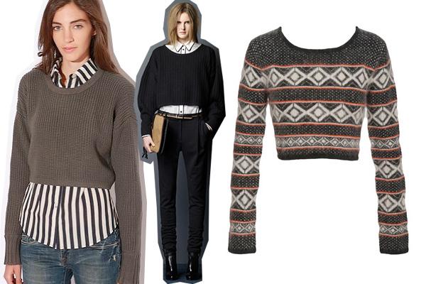 3 способа носить укороченный свитер этой осенью