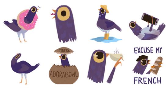 Фиолетовая птица: что это за стикер и почему им все пользуются?