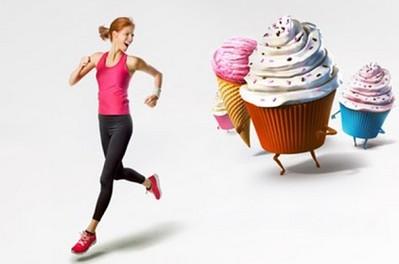 Бег и сладости: калории и километры