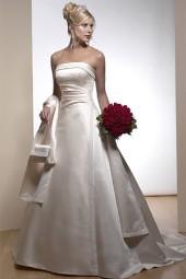 Выбор ткани. Отделка свадебного платья