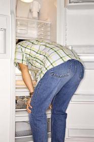 В холодильнике у экономной хозяйки...